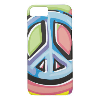 Peace Sign in Pastel Colors iPhone 7 Case
