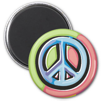 Peace Sign in Pastel Colors Magnet
