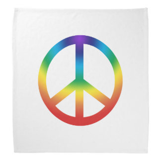 Peace Sign in Rainbow colors Bandana