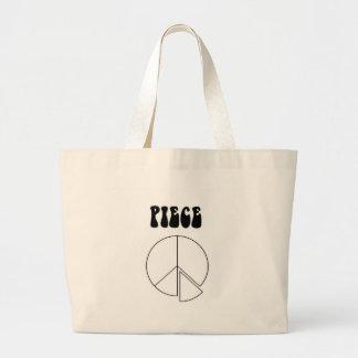 Peace sign jumbo tote bag