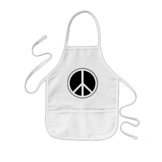 Peace Sign Kids Apron