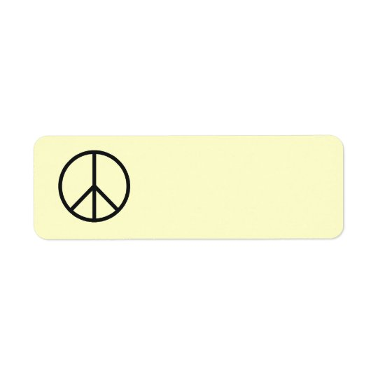Peace Sign Label- Customise Background Colour