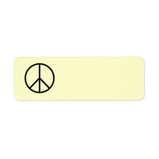 Peace Sign Label- Customize Background Color