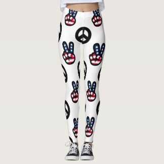 PEACE SIGN LEGGINGS