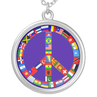 Peace Sign Made of Flags Necklace