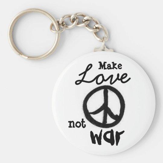 peace-sign, Make, Love, not, war - Customised Key Ring