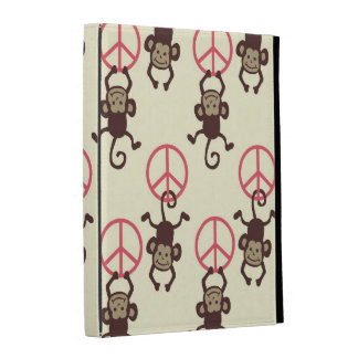 Peace Sign Monkeys iPad Folio Cases