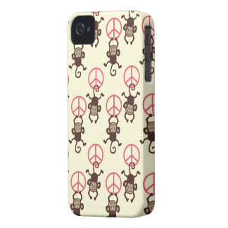 Peace Sign Monkeys iPhone 4 Cases
