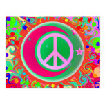 Peace Sign, Moon, Stars & Everything Postcard