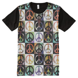 Peace Sign Mosaic All-Over Print T-Shirt