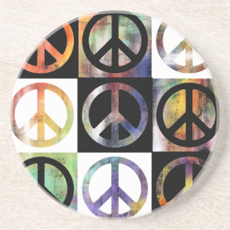 Peace Sign Mosaic Beverage Coaster