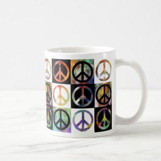 Peace Sign Mosaic Coffee Mug