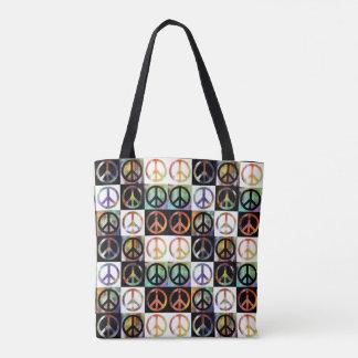 Peace Sign Mosaic Tote Bag