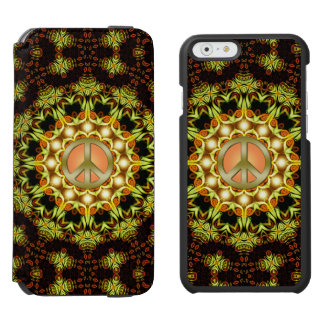 Peace Sign Nature Energy | Green + Orange iPhone Incipio Watson™ iPhone 6 Wallet Case