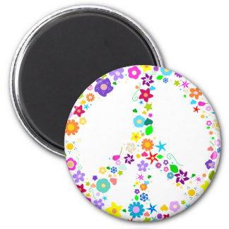 Peace sign of Flowers Magnet