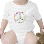 Peace sign of Flowers Romper