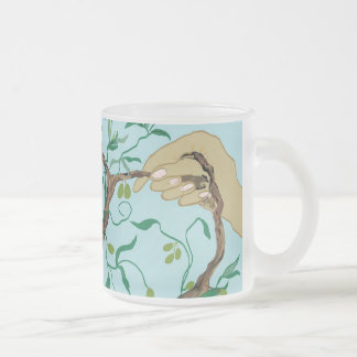 peace sign olive branch coffee mug