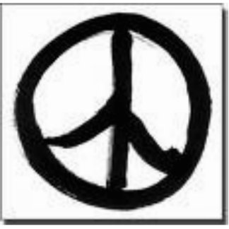 PEACe sign ornament Photo Sculpture Decoration