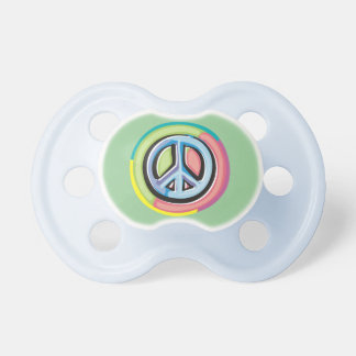 PEACE Sign Pacifier in Pastels