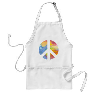 Peace Sign Pastel Aprons
