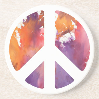 Peace Sign Pastel Drink Coaster