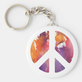 Peace Sign Pastel Keychain