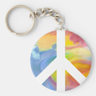 Peace Sign Pastel Key Chain
