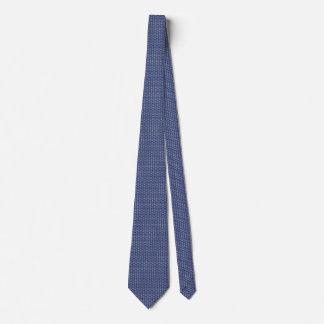 Peace Sign Pattern on Midnight Blue Tie