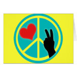 Peace Sign Peace and Love Card