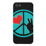 Peace Sign Peace and Love Case For iPhone 5