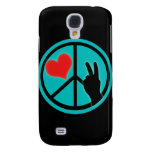 Peace Sign Peace and Love Galaxy S4 Covers