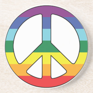 Peace Sign Peace Symbol with Flag Colors Coaster