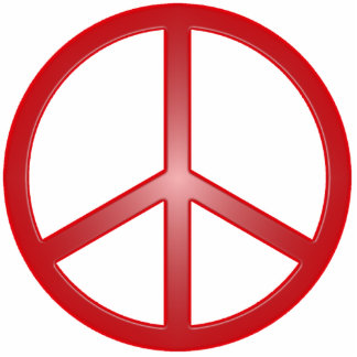 Peace Sign Photo Sculpture Decoration