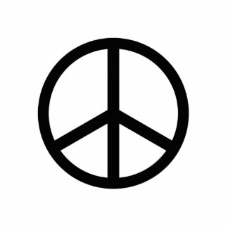 Peace Sign Photo Sculpture Key Ring