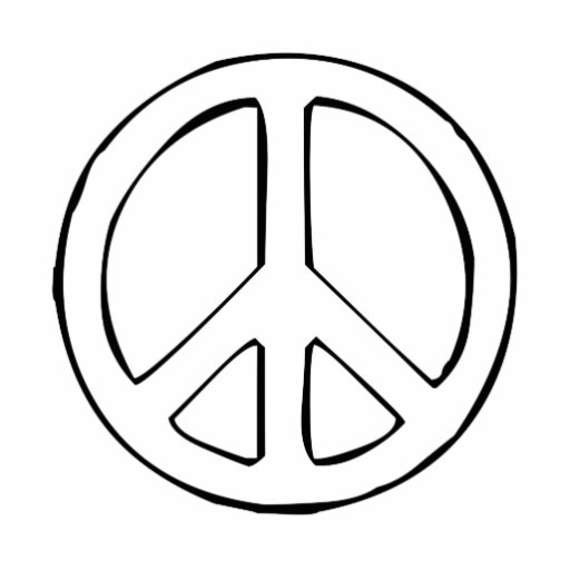 Peace Sign Photo Cut Outs