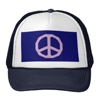 Peace Sign Pink Hat