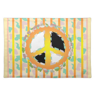PEACE SIGN PLACEMAT CLOTH