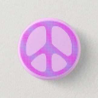 Peace sign polka dots pop art 3 cm round badge