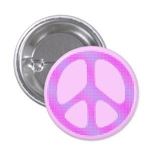 Peace sign polka dots pop art 3 cm round badge