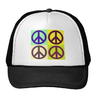 Peace Sign Pop Art Cap