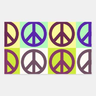 Peace Sign Pop Art Rectangular Sticker