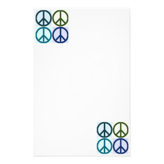 Peace Sign Pop Art Stationery
