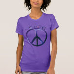 Peace Sign Purple American Apparel Fine Jersey T-shirt