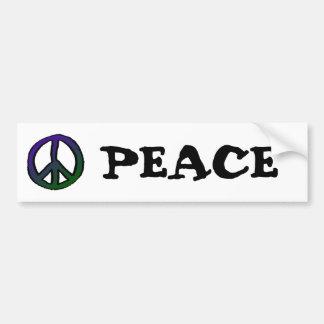 Peace Sign Purple Green Grad Car Bumper Sticker