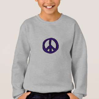 Peace Sign Purple mini - Sweatshirt