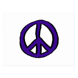 Peace Sign Purple - Postcard
