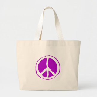 Peace Sign Purple - Canvas Bags
