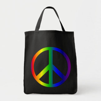 Peace Sign Rainbow Bag