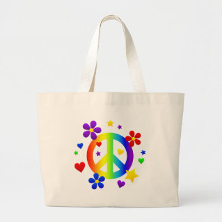 peace_sign_rainbow png tote bags
