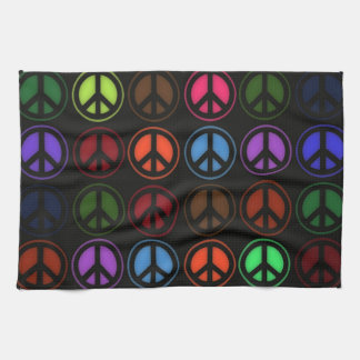 Peace Sign Retro Hippy Love Tea Towel